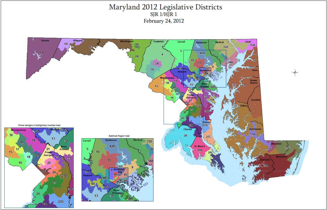 Maryland Legislative Map
